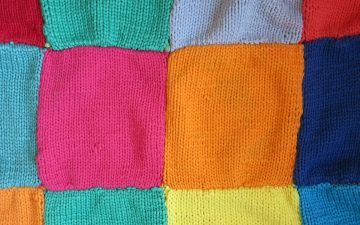 How to sew knitted squares together?