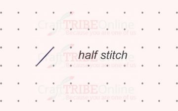Which direction should half cross stitches go?
