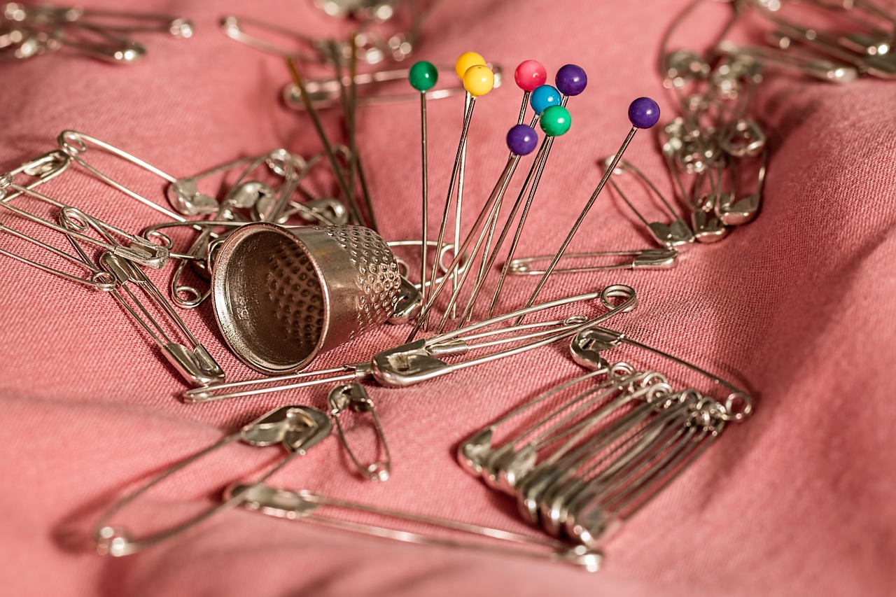 Can you actually sew with pins in the fabric?