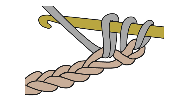 Yarn over and insert your hook