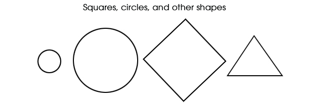 Squares, circles, and other shapes